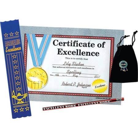 Certificate of Excellence Award Set