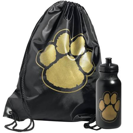 Paw Backpack Award Set - Black/Gold