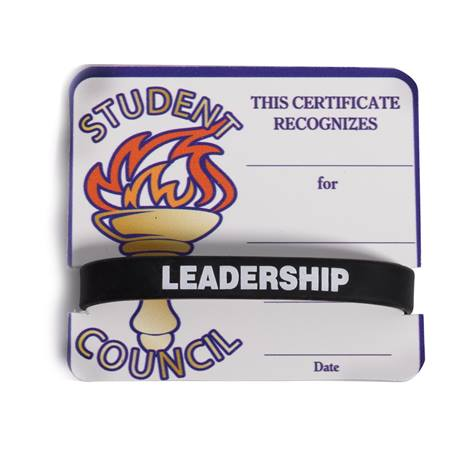 Mini Certificate/Wristband Set - Student Council