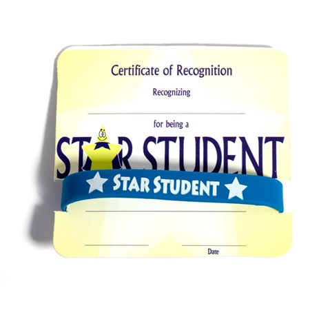 Mini Certificate/Wristband Set - Star Student/Smiley