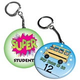 Stock Button Key Chain - 2 1/4 in.