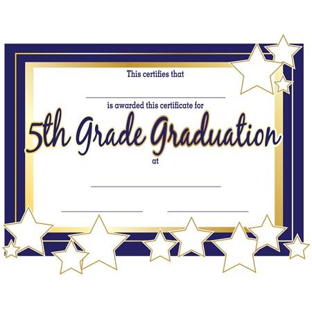 5th grade graduation certificates andersons