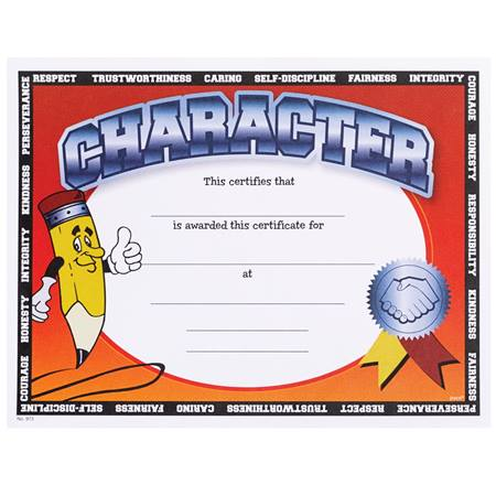 Full-color Character Certificates