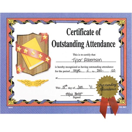 Small Certificates With Seals - Attendance