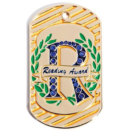 Bling Dog Tag - Reading Award