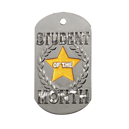 Die Cut Dog Tag - Student of the Month