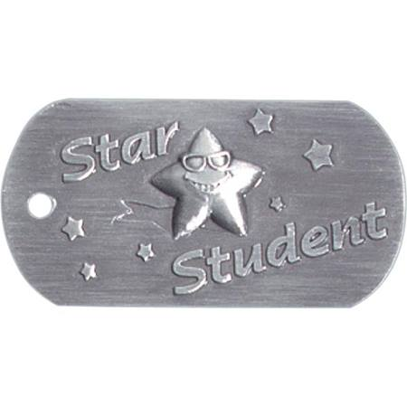 Embossed Dog Tag - Star Student