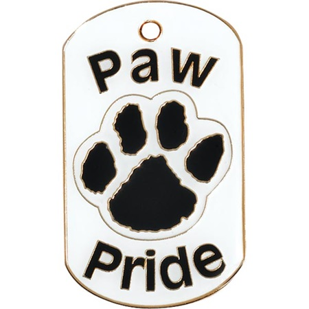Colored Dog Tag - Paw Pride