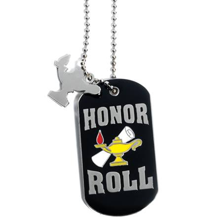 Charm Dog Tag - Honor Roll Lamp