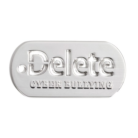 Cut Out Dog Tag - Delete Cyber Bullying