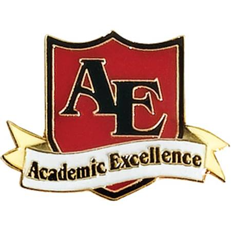 Academic Excellence Award Pin - AE Shield