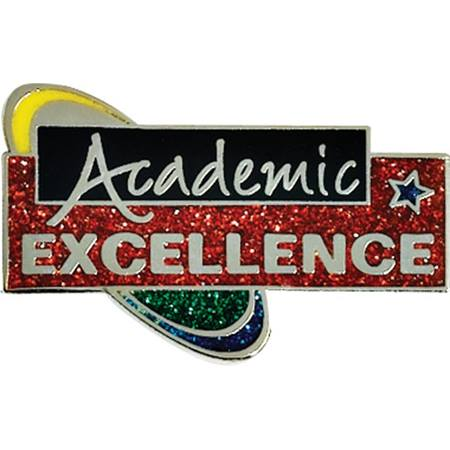 Academic Excellence Award Pin - Glitter Orbit