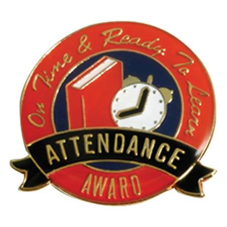 Attendance Award Pin - On Time and Ready to Learn