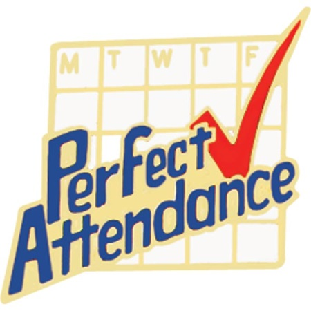 ... Awards >> Award Pins >> Attendance >> Attendance Award Pin - Perfect