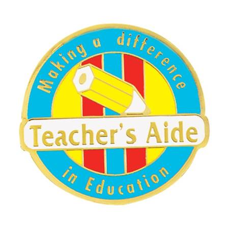 Teacher's Aide Award Pin - Making a Difference in Education