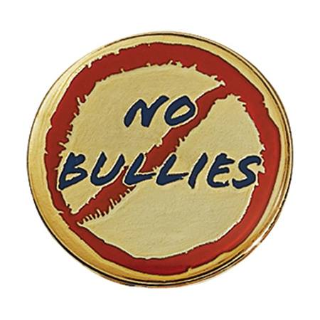 Anti-Bully Award Pin - No Bullies