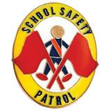 Safety Patrol Award Pin - Crossing Guard With Flags