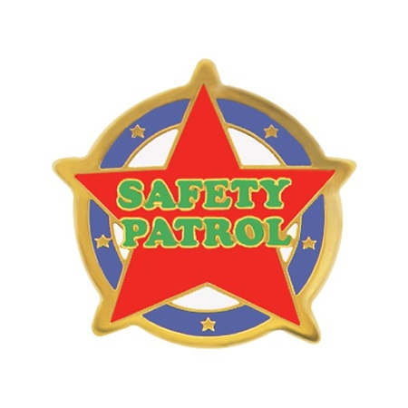 Safety Patrol Award Pin - Red Star