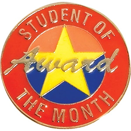 Student of the Month Award Pin - Yellow Star