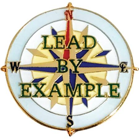 Leadership Award Pin - Lead By Example Compass