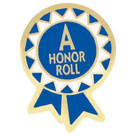 Honor Roll Award Pin - A Honor Roll Ribbon