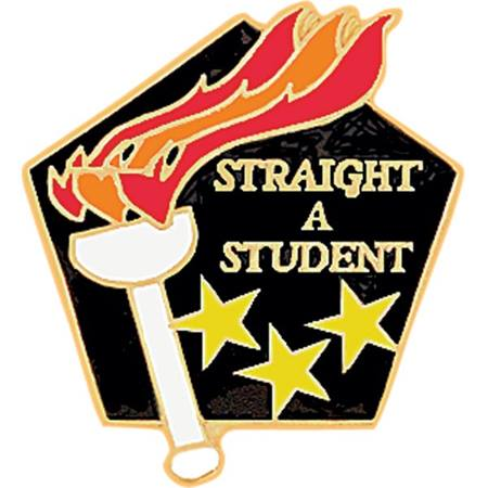 Achievement Award Pin - Straight A Student