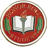Honor Roll Student Award Pin - Book
