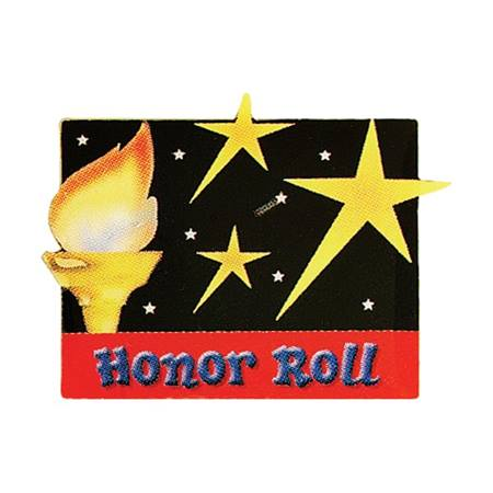 Honor Roll Award Pin - Torch and Stars