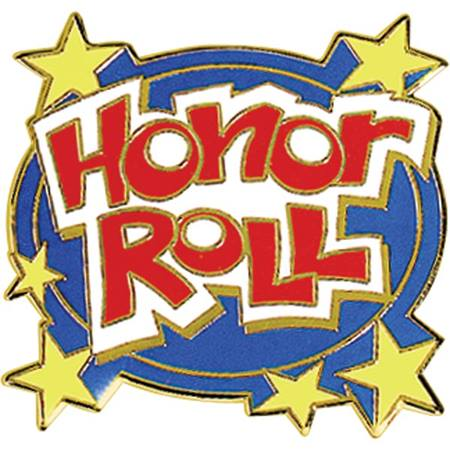 Honor Roll  Award Pin - Funky Words