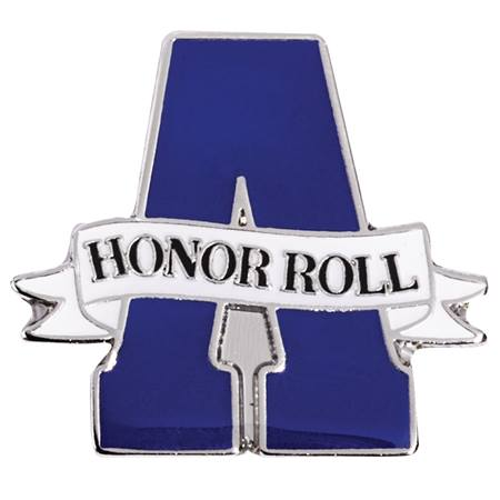 Honor Roll Award Pin - A Honor Roll