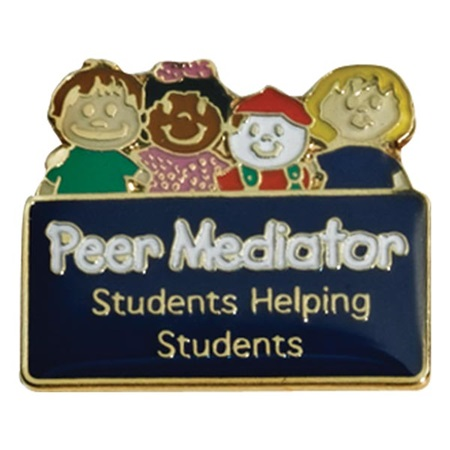 Peer Mediator Award Pin - Students Helping Students