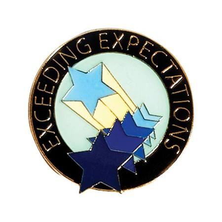 Recognition Award Pin - Exceeding Expectations