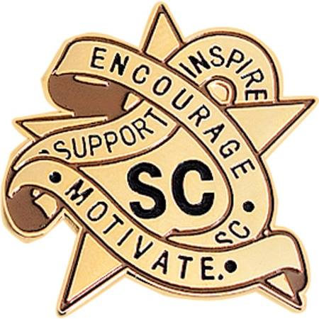 Student Council Award Pin - Support, Inspire, Encourage, Motivate