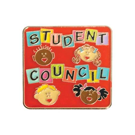 Student Council Award Pin - Children's Faces