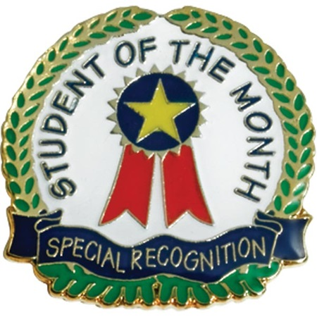Student of the Month Award Pin - Special Recognition