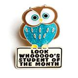 Whooo's Student of the Month Award Pin