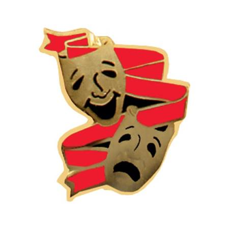 Drama Award Pin - Comedy/Tragedy Masks