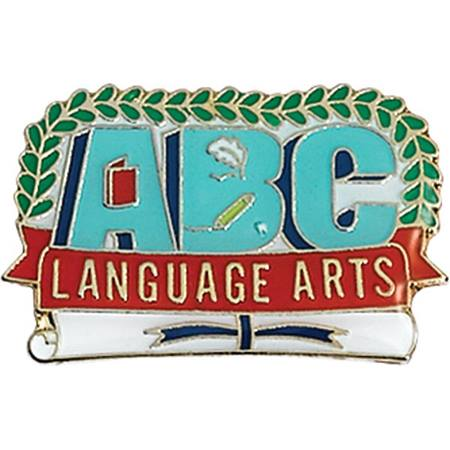 Language Arts Award Pin - ABC