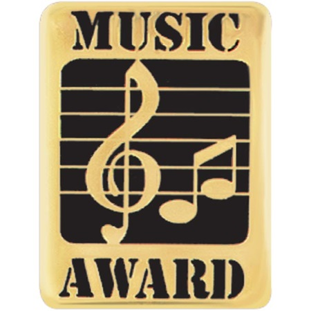 Music Award Pin - Treble Clef and Notes