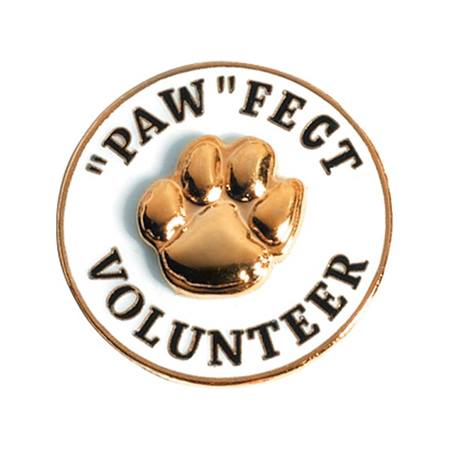 "Volunteer Award Pin - 3D ""Paw""fect Volunteer"