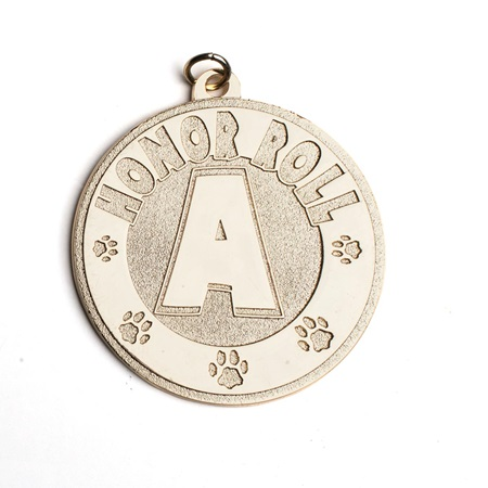 A Honor Roll Classic Medallion with Paws