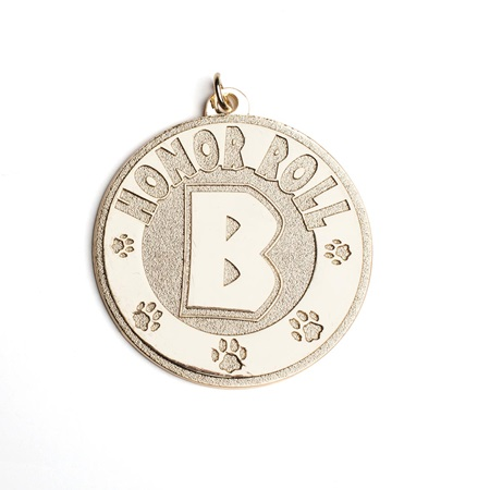 B Honor Roll Classic Medallion with Paws