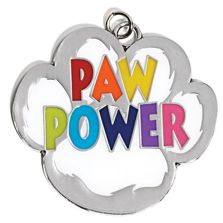 Paw Power Shaped Medallion
