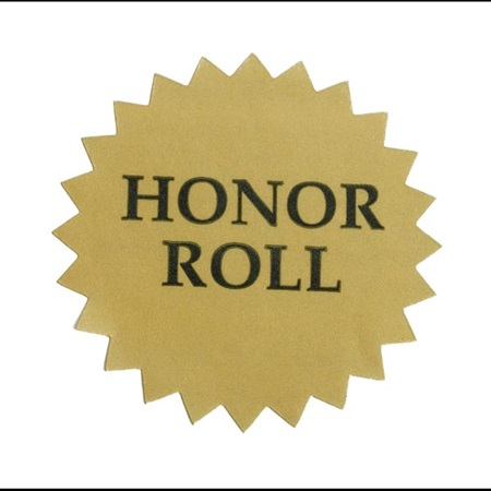 Gold Foil Sticker - Honor Roll