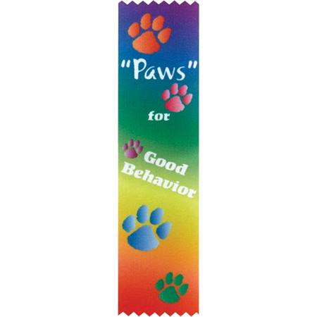 Award Ribbon - Paws For Good Behavior