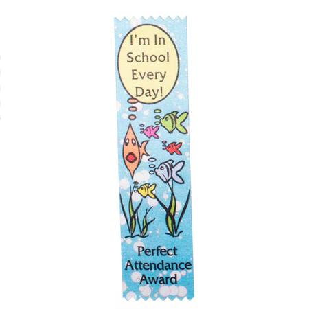 Full-color Perfect Attendance Ribbon