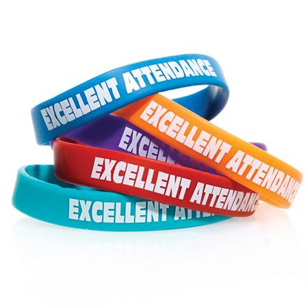 Excellent Attendance Silicone Wristband