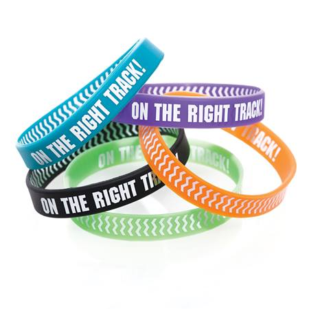 Two Way Wristband - On the Right Track Chevron