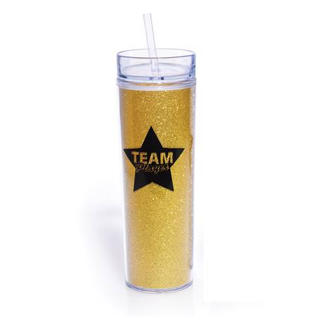 Appreciation Tumbler - Silver Glitter TEAM