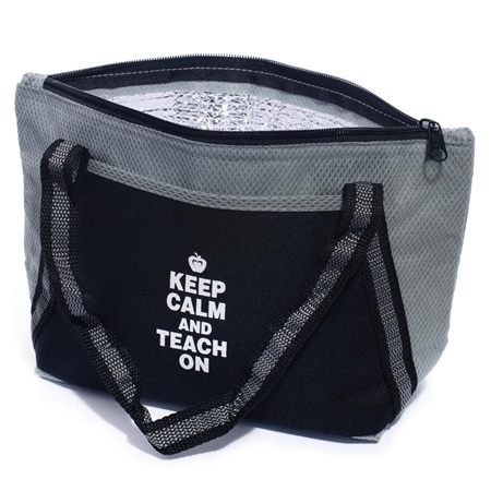 Black Cooler Tote - Keep Calm and Teach On